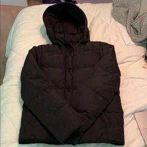 JCrew Black Puffer Jacket Like New